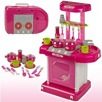 Play kitchen with light and sound pink / pink also to take away