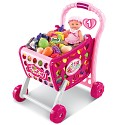 Shopping cart with light and sound consisting of synthetic, fruits, vegetables inlcuded and 36 pieces as accessories