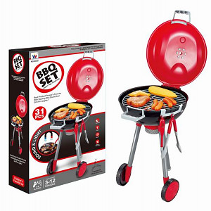 BBQ grill with light and sound