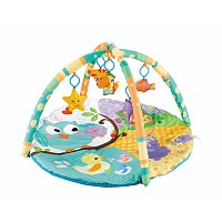 Colorful baby play arch with a round play mat