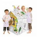 Cardboard house for painting animals