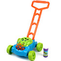 Children's lawn mower with bubble-blow soap machine