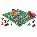 Car play carpet with vehicles