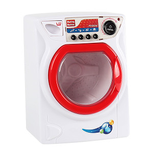 Children's washing machine with light, sound and rotating drum