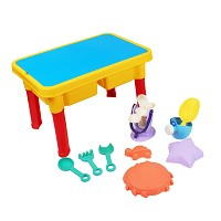 Sand and water play table with accessory