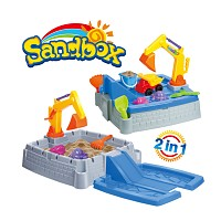 sand playing toy 11-pieces sand box with a lot of accessories