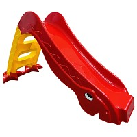 Toddlers slide with garden slide, freestanding slide for babies red/ yellow