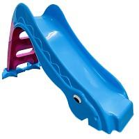 Toddlers slide garden slide free standing baby slide blue/ pink