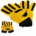 Goalkeeper Gloves Gr. 8 yellow / black children's work gloves