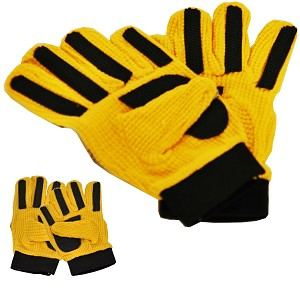 Torwarthandschuhe Gr. 8 gelb/schwarz Kinder Arbeitshandschuhe