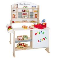 Kaufladen aus FSC Holz Kaufmannsladen Verkaufsstand vintage Marktstand Kiosk Kinder