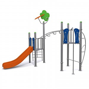 Modern, almost maintenance-free fitness center for climbing and shackling with slide EN1176