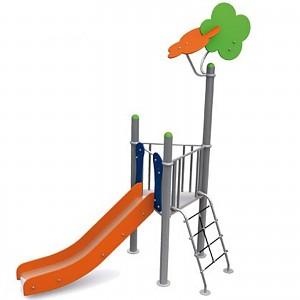 BEN-Metalic 1 Turm mit Rutsche und Leiter