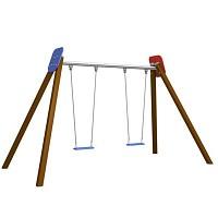 BEN - Doppelschaukel  Holz mit 2 Sitzbretter