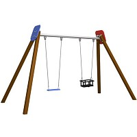 BEN - Doppelschaukel Holzsteher Baby / Schaukelbrett