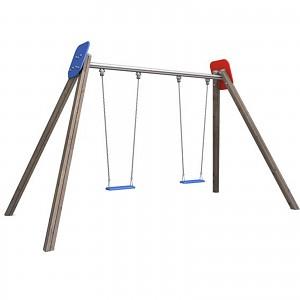 BEN - Doppelschaukel Holz  2 Sitze