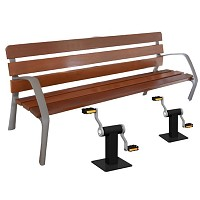 Park bench Fitness bench with PEDALS, ideal for seniors for public areas