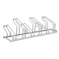 Floor parking bike rack made of galvanized steel with space for 6 bikes for private or public use.