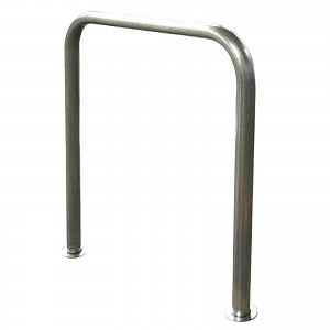 Floor parking bicycle stand INOX stainless steel for private or public use