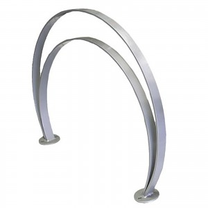 Galvanized steel bike stand for 2 bikes of different heights for public areas