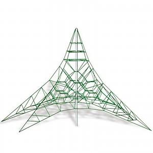 Spider climbing net 6 m mast height climbing pyramid rope pyramid EN1176