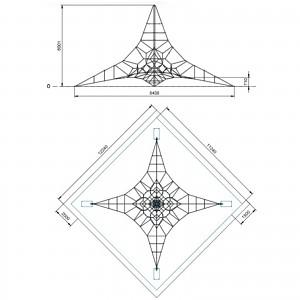 Spinnen-Kletternetz 6m Masthoehe Maße