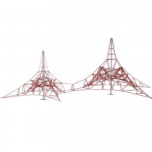 Double spider climbing net 4m mast height for public playgrounds & facilities EN1176