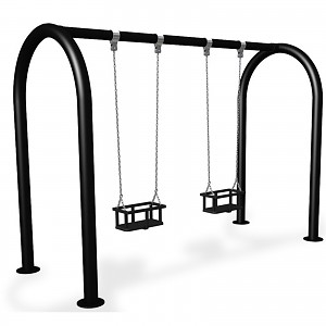 FENOKEE Almost maintenance-free swing frame Double seat swing with 2 toddler seats EN1176