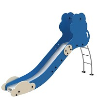 FENOKEE ladder slide / fixed slide maintenance-free stainless steel slide cloud for the public playground EN1176