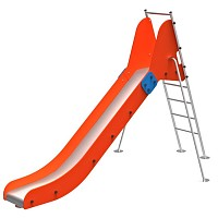 FENOKEE ladder slide / fixed slide maintenance-free stainless steel slide Everest for the public playground EN1176