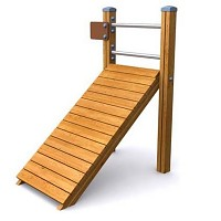 SPORT circuit element press bench for abdominal and back training for public playgrounds or fitness trails