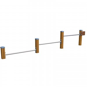 SPORT circuit element push-up bars for public playgrounds or fitness trails