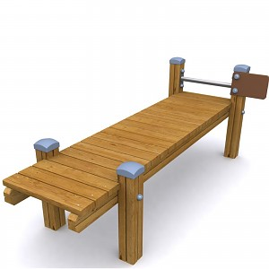 SPORT round course element back bench for public playgrounds or fitness trails