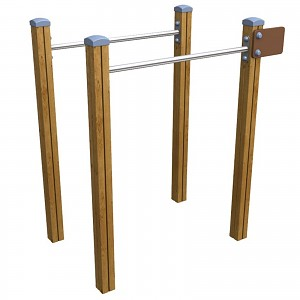 SPORT circuit element double bar system / bars for public playgrounds or fitness trails