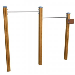 SPORT round course double bar system for public playgrounds or fitness trails
