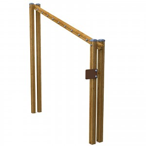 SPORT round course high jump element for public playgrounds or fitness trails