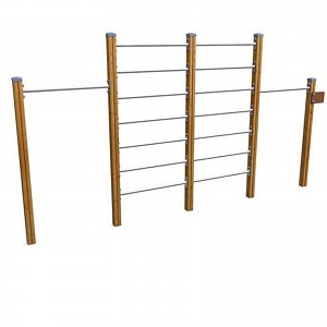 SPORT round course elements- SET stretching system wall bars for public playgrounds or fitness trails