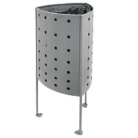 Litter bin Garbage can Argo 45L in an elegant modern design for public spaces in cities, parks, playgrounds