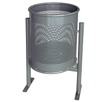 Litter bin Rubbish bin Circular Large 70 L in an elegant, modern design for public spaces