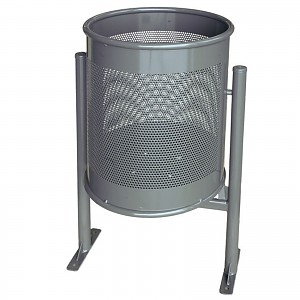 Waste container Circular Big 70L with a elegant modern design for public places