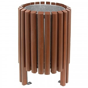 Litter bin Garbage can Salou 40 L in an elegant modern design for public spaces