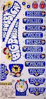 BIG - Aufklebersatz Polizei Classic blau
