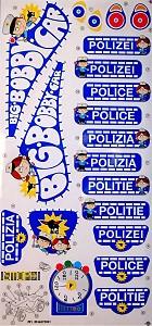 BIG - Bobby-Car Classic Stickers Classic Police Decal Sticker Set