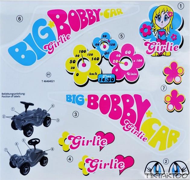 big bobby car classic stickers classic girlie tiktaktoo