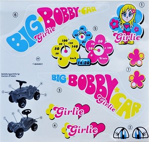 BIG - Bobby-Car Classic Stickers Classic Girlie sticker set