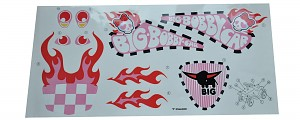 BIG Bobby Car Aufkleber Crazy Girls Sticker Aufklebersatz Bobbycar Classic rosa