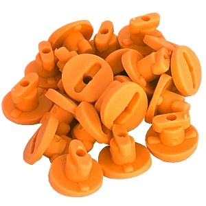 Moveandstic tube clips, set with 20 clips orange