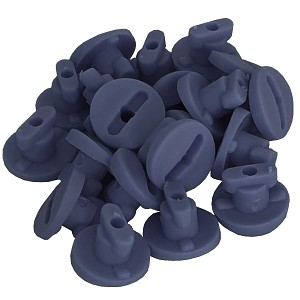 Moveandstic tube clips, set with 20 clips grey
