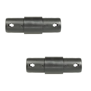 Moveandstic set of 2 surface coupling 2-armed, straight, black