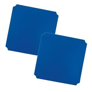 Moveandstic set of 2, plate 40 x 40 cm, blue